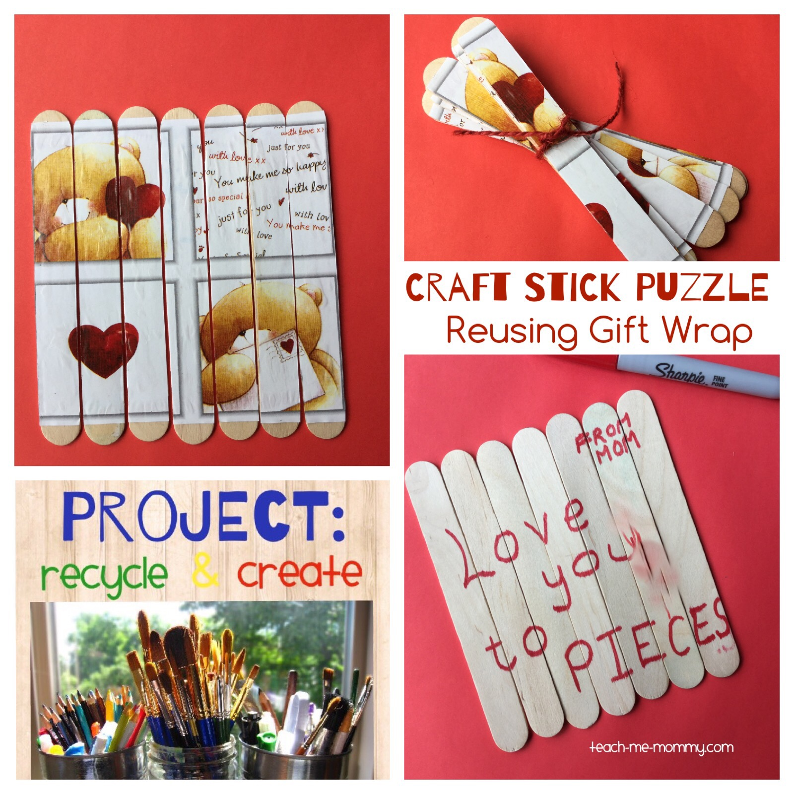 wrapping paper stick puzzles
