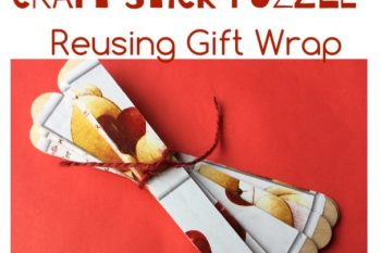 Stick Puzzles reusing Gift Wrap
