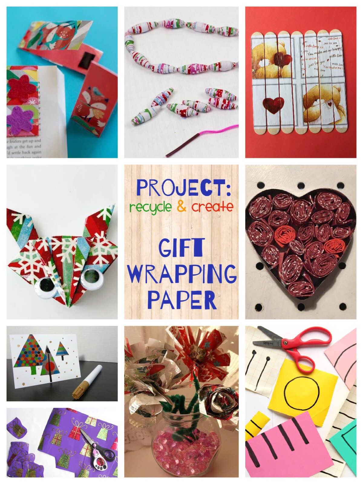 Recycled Gift Wrapping Paper ideas