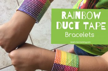 Rainbow Duct Tape Bracelets