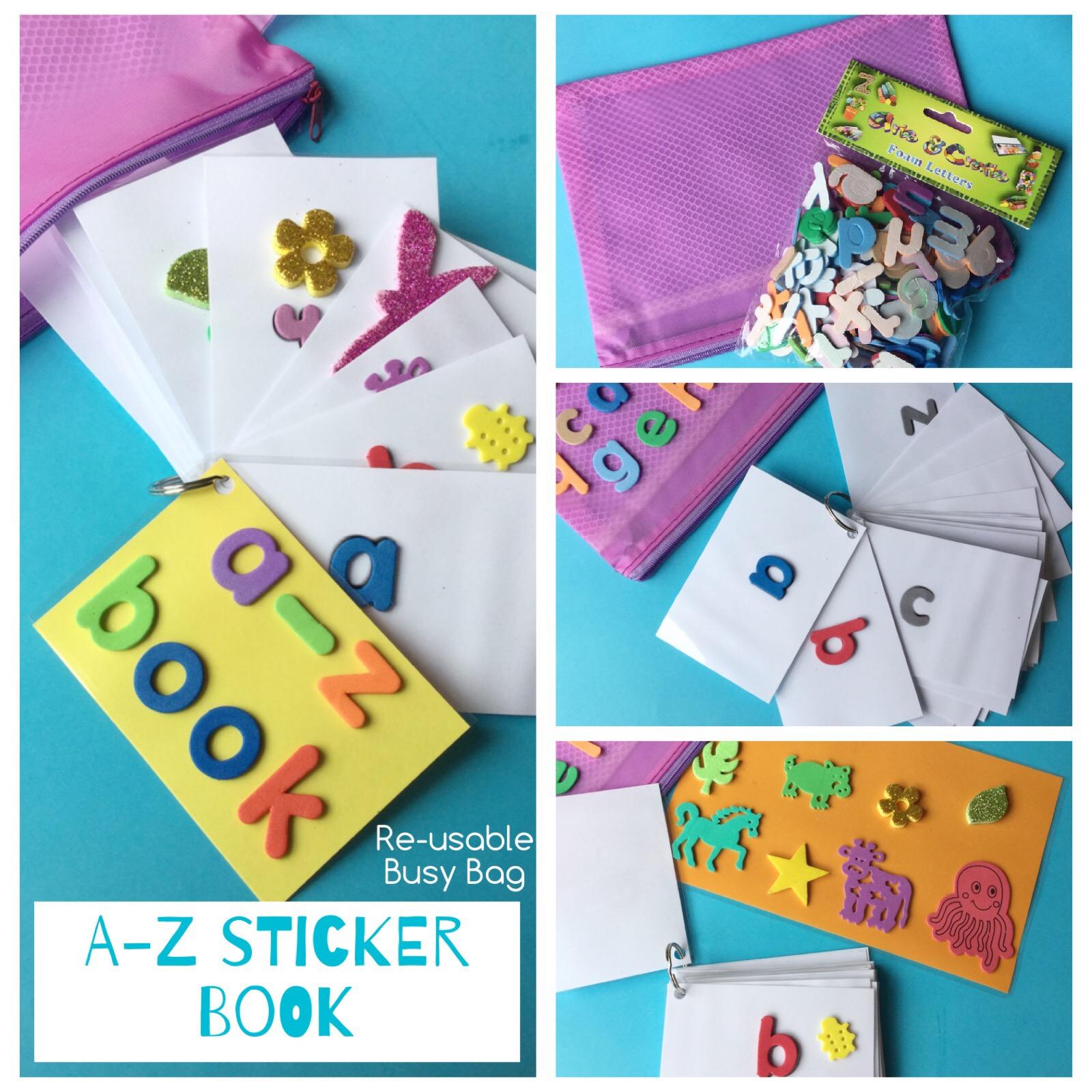 sticker book busy bag