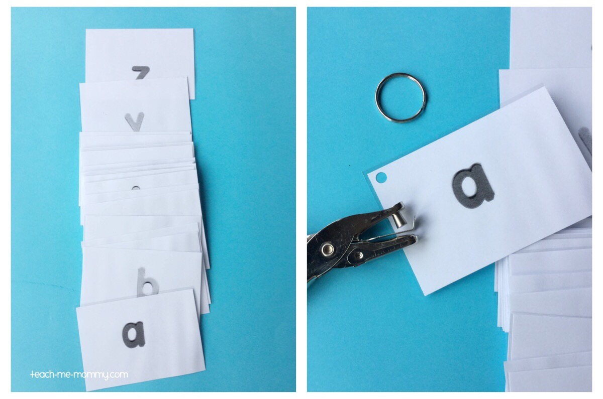 laminated letter cards