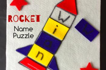 Felt Rocket Name Puzzle