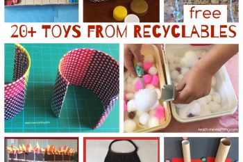 20+ Toys made from Recyclables