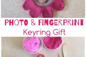 Photo & Fingerprint Keyring Gift