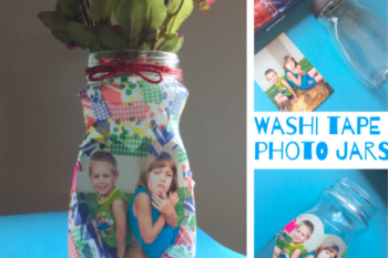 Washi Tape Photo Jars