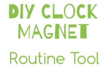 DIY Clock Magnet