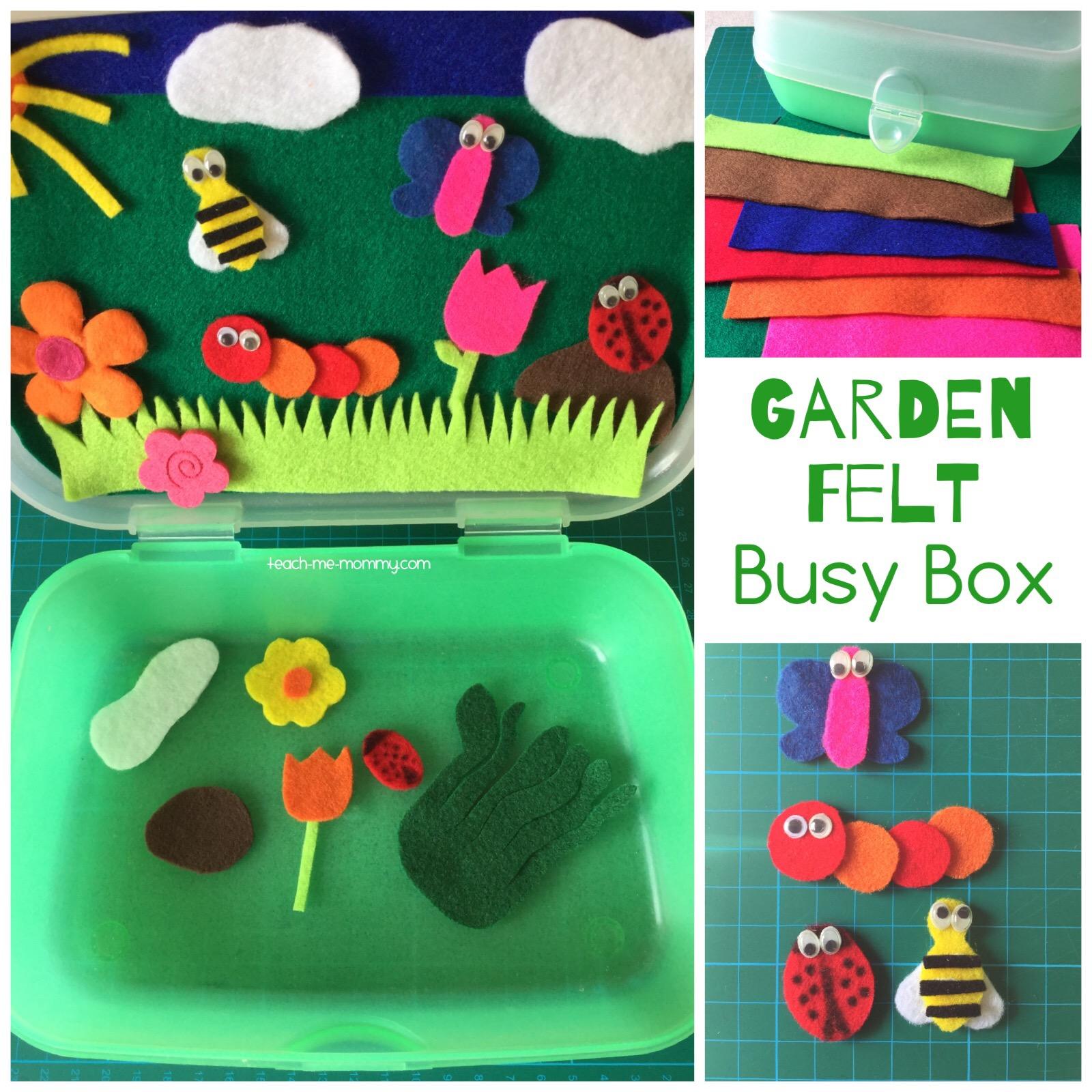 felt bug garden
