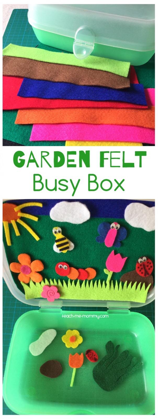 garden felt busy box