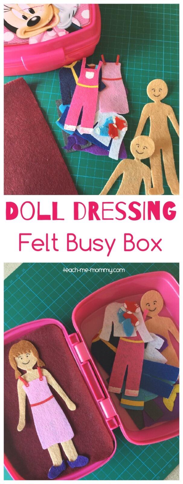 doll dressing felt