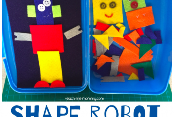 Shape Robot Felt Busy Box