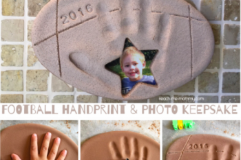 Football Handprint & Photo Keepsake