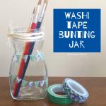 washi tape bunting jar