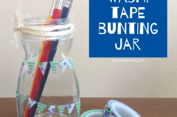 Washi Tape Bunting Jar