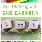Egg Carton Word Building