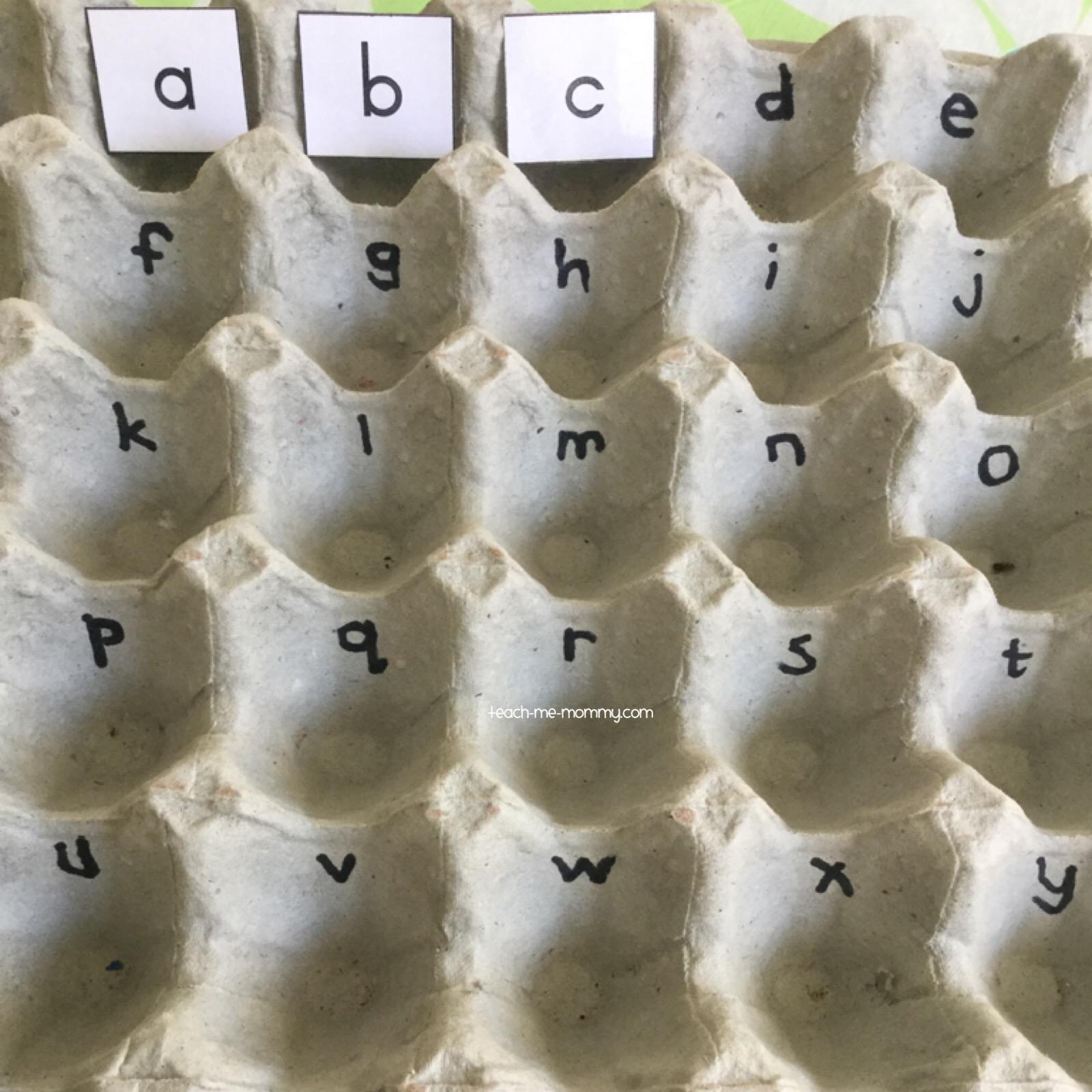 alphabet card holder