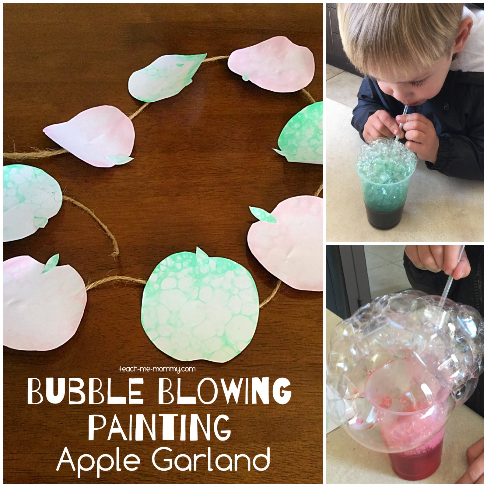 blowing bubble painting