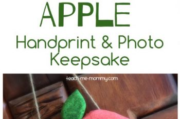 Apple Handprint & Photo Keepsake