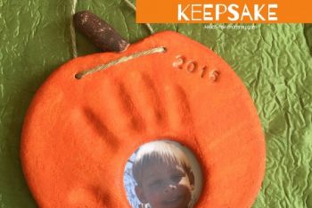 Pumpkin Handprint & Photo Keepsake