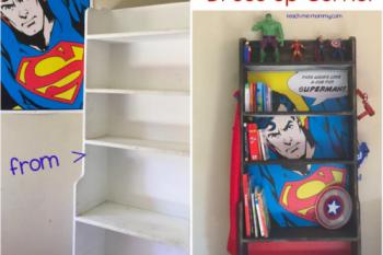 Superhero Bookcase/Dress Up Corner