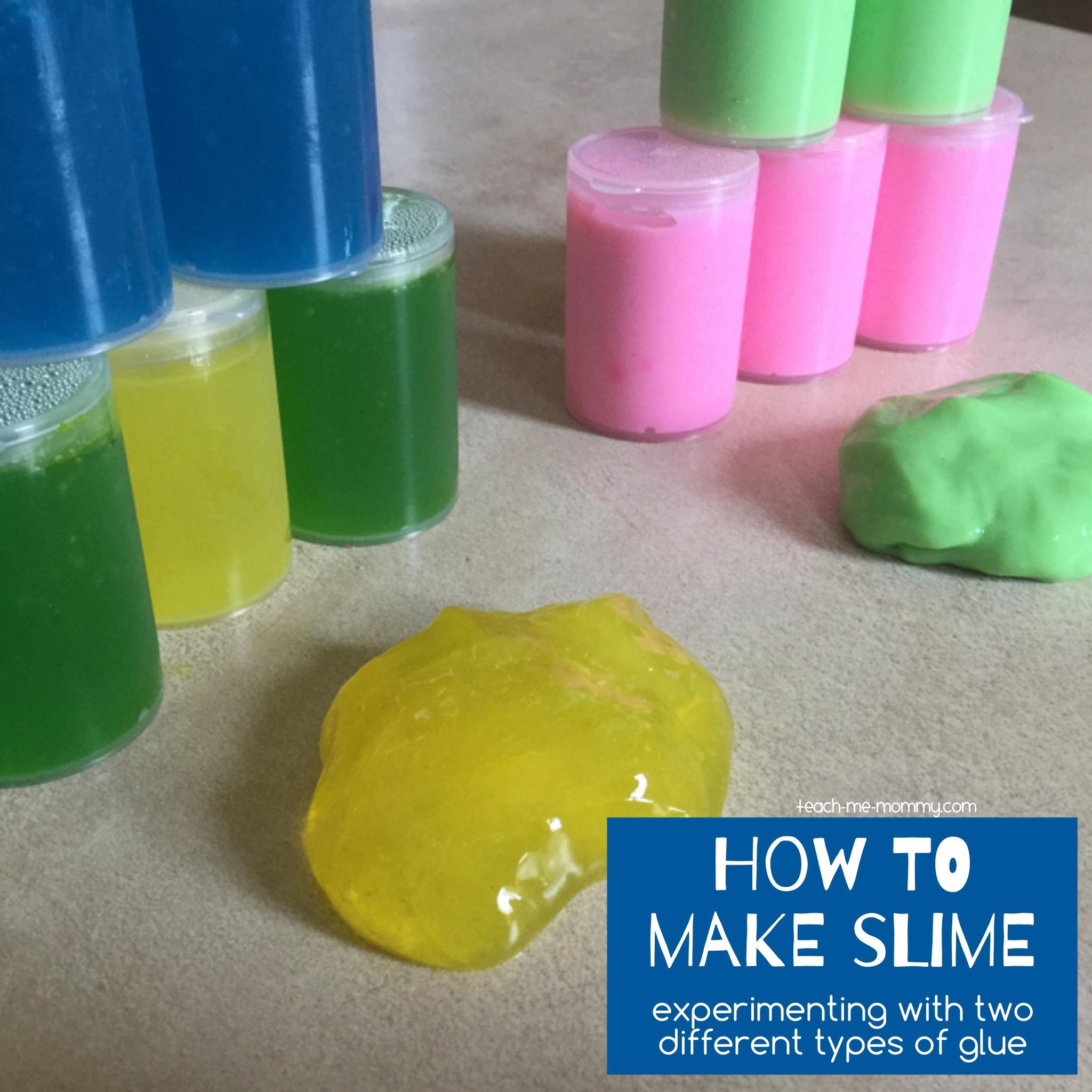 How to make slime - Teach Me Mommy