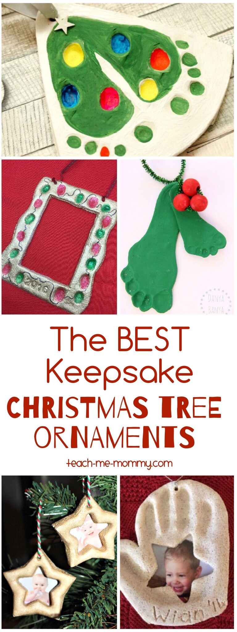 Easy Footprint Christmas Tree >> Best Keepsake Christmas Ornaments - Teach Me Mommy