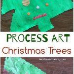 Process Art Christmas trees