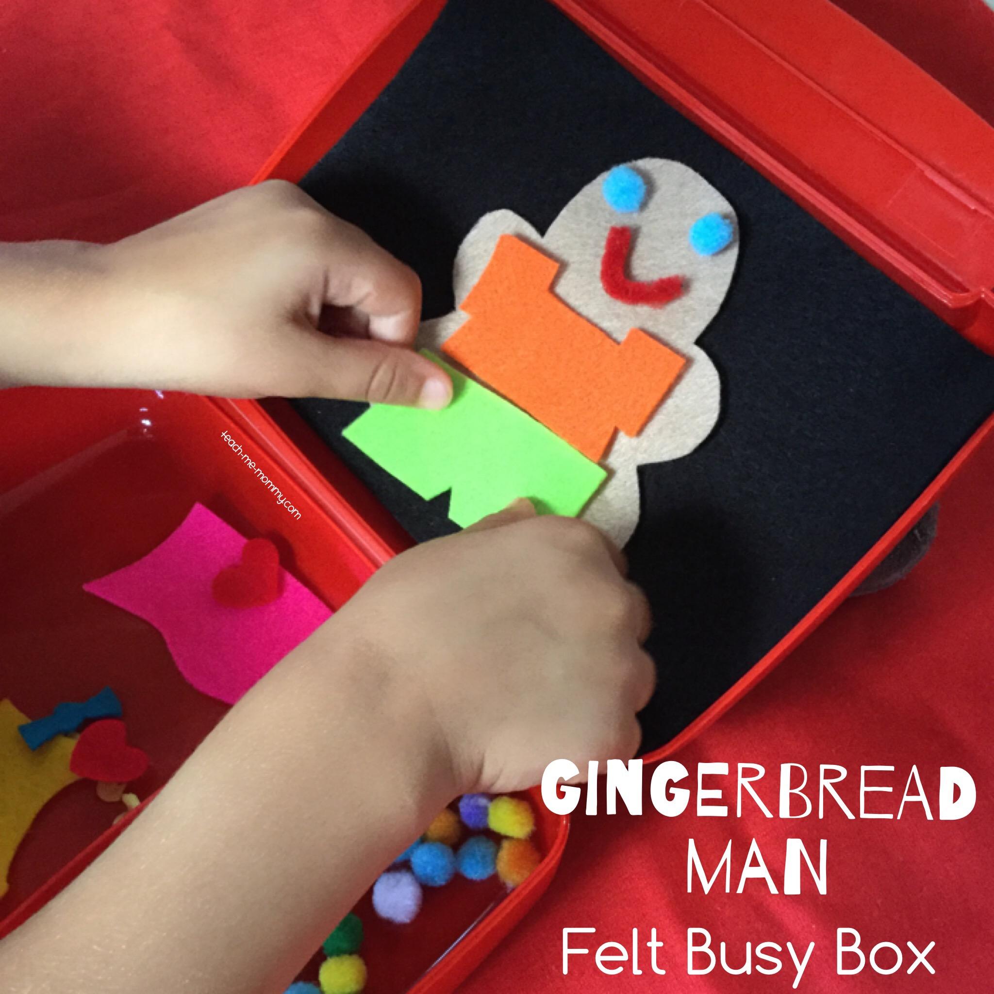 felt busy box