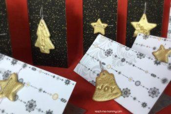 Salt Dough Ornament Christmas Cards