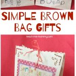 Simple Brown Bag Gifts