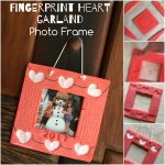 Fingerprint Heart Garland Photo Frame