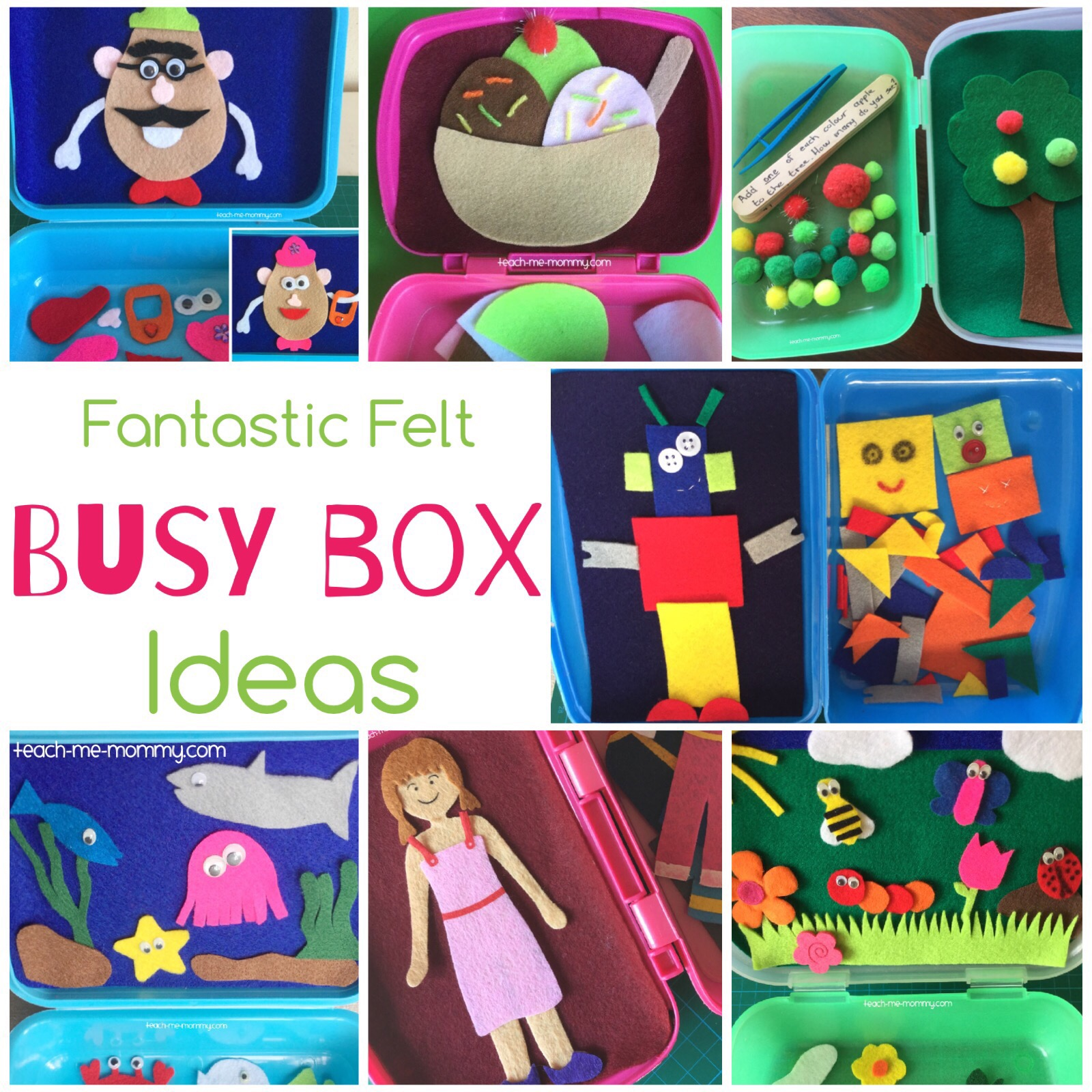 Collection of busy boxes