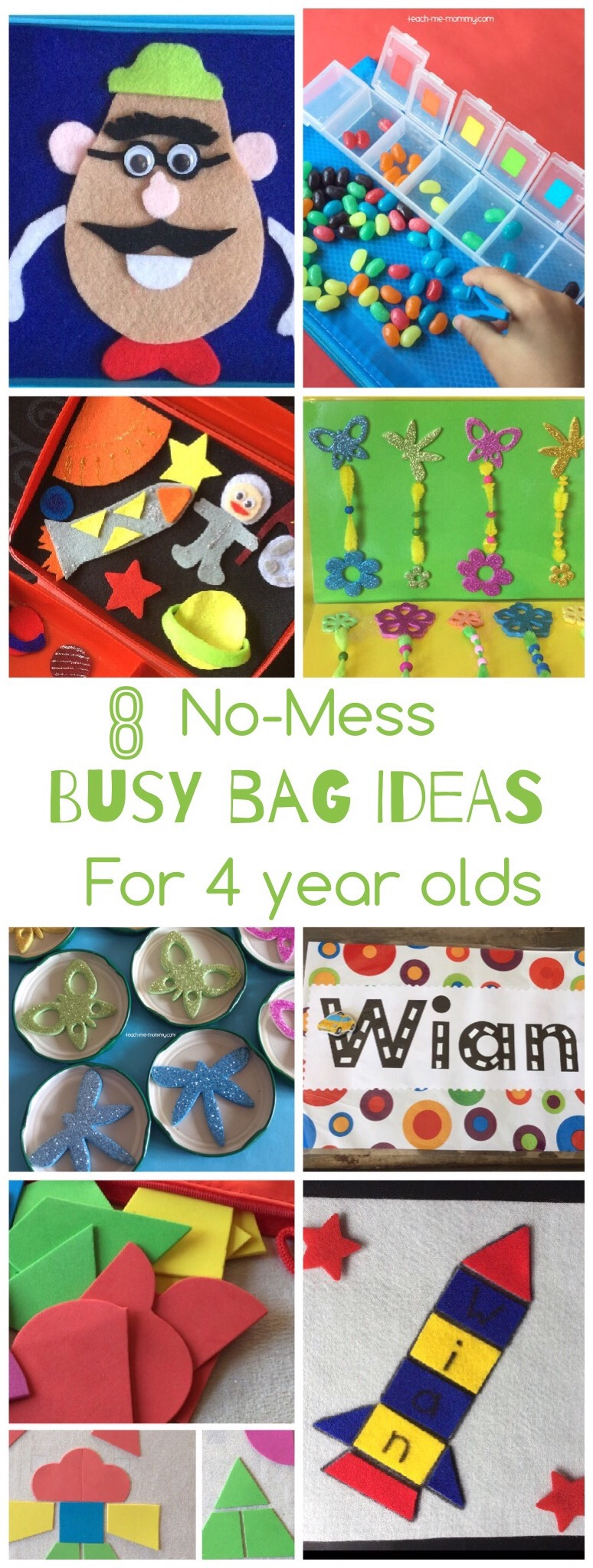 No Mess Busy Bag Ideas For 4 Year Olds