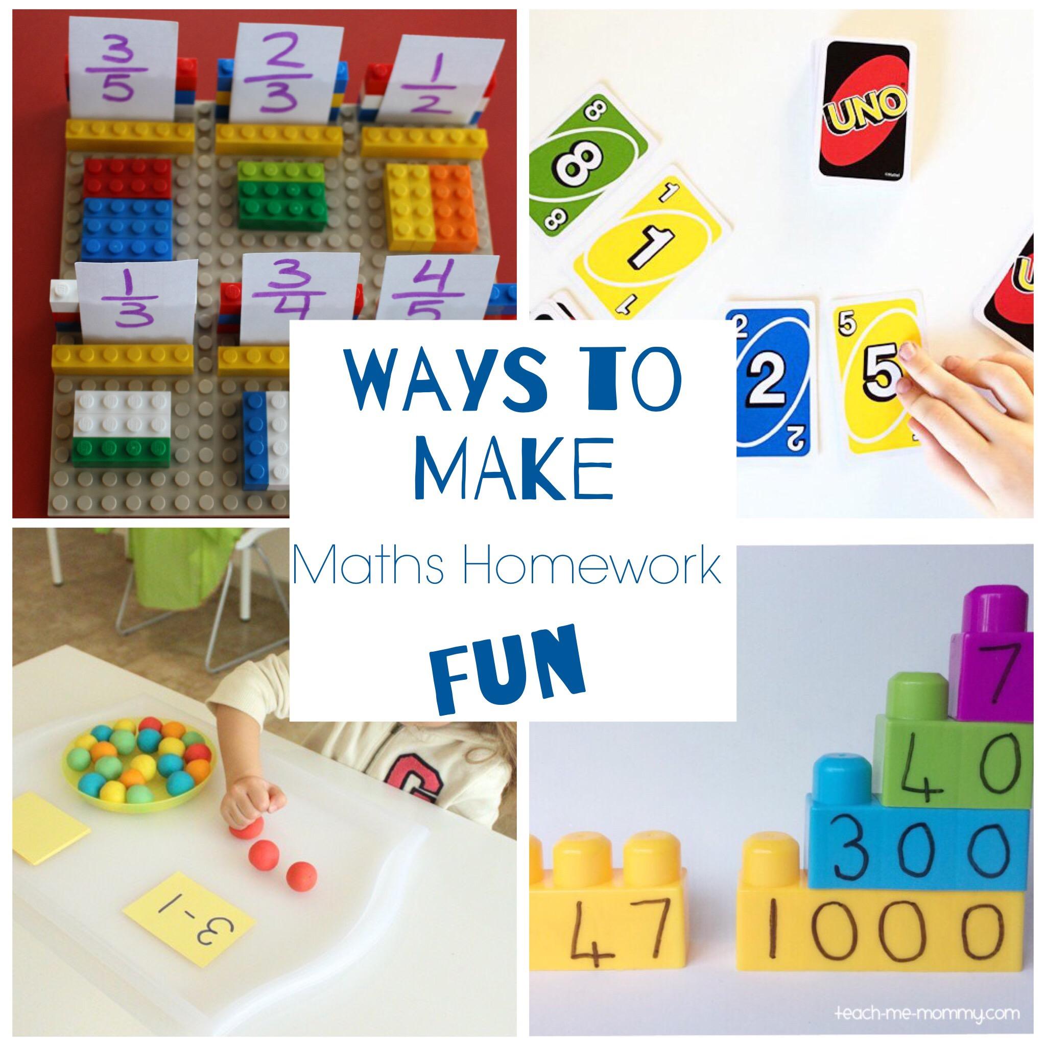 Ways to Make Maths Homework Fun - Teach Me Mommy