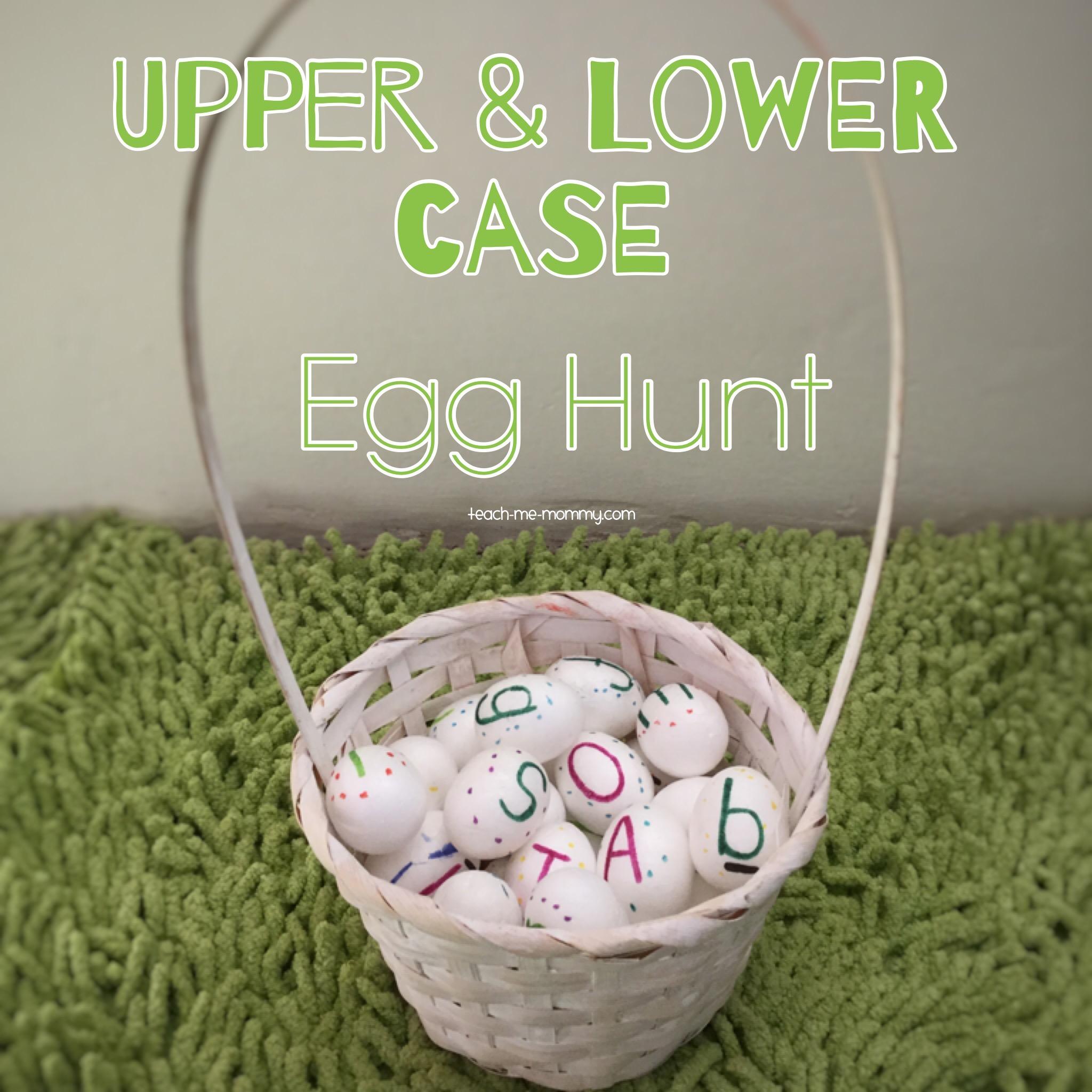 Upper and lower case egg hunt