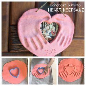 Hearts handprint