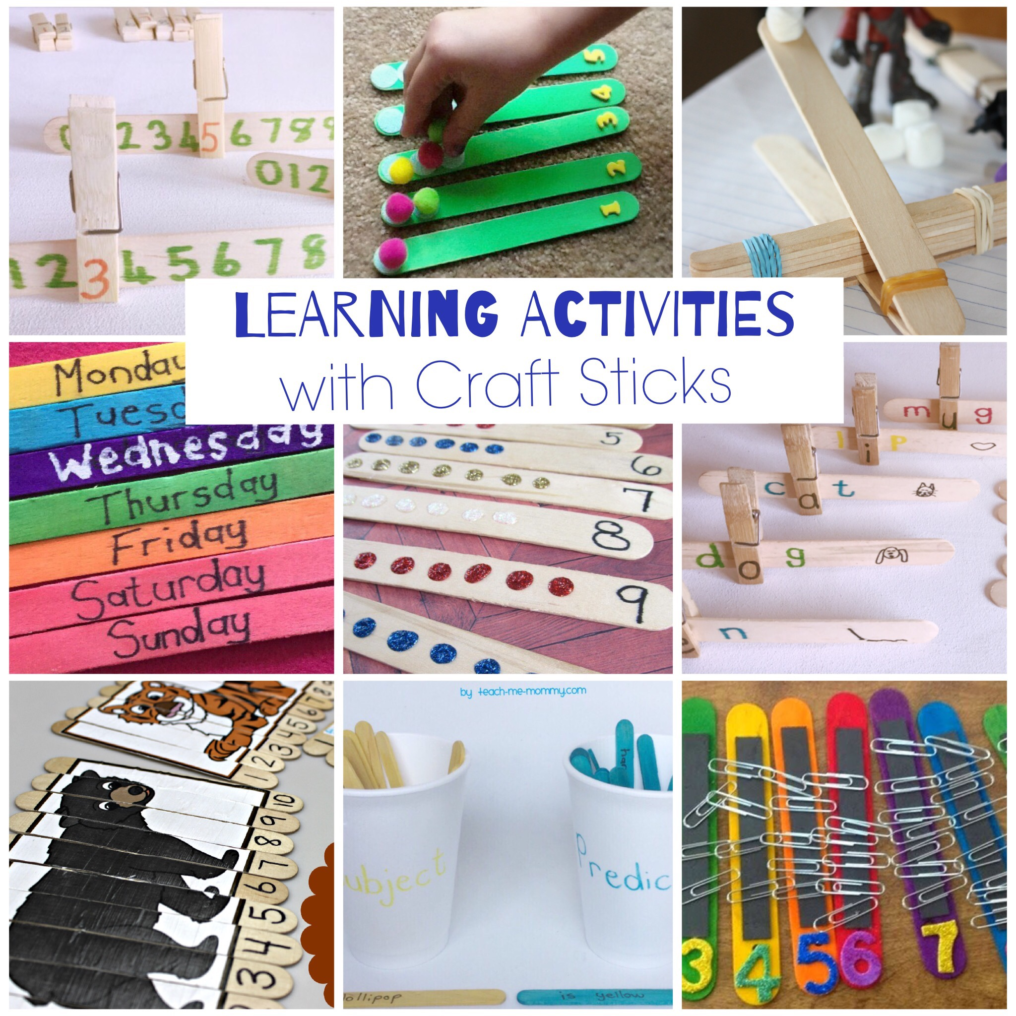 Craft sticks Activities