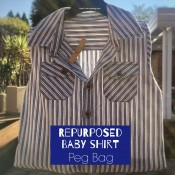 Baby shirt peg bag