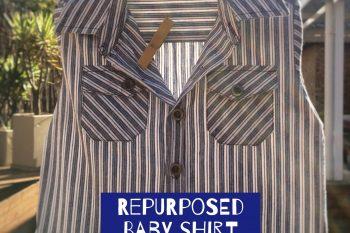 Repurposed Baby Shirt Peg Bag