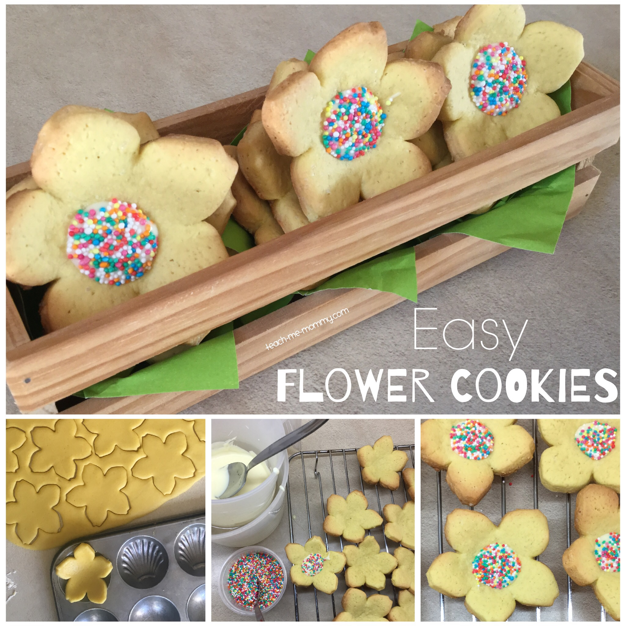 Easy flower cookies