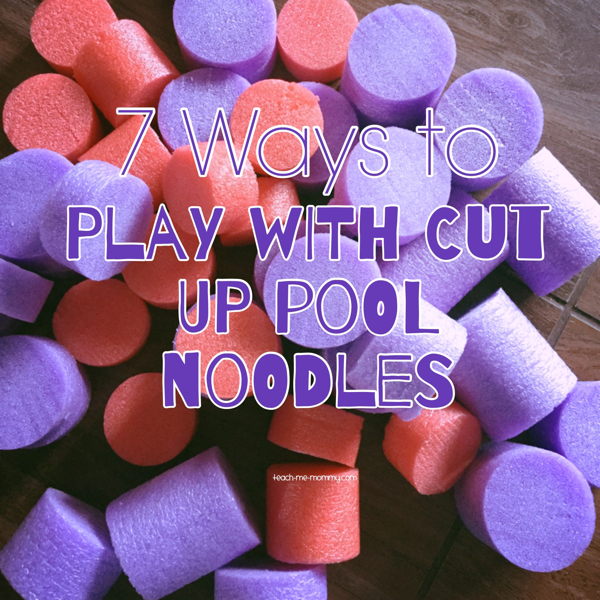 Play with pool noodles