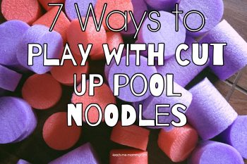 Ways to Play with Cut Up Pool Noodles