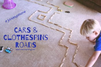 Cars and Clothespins Roads
