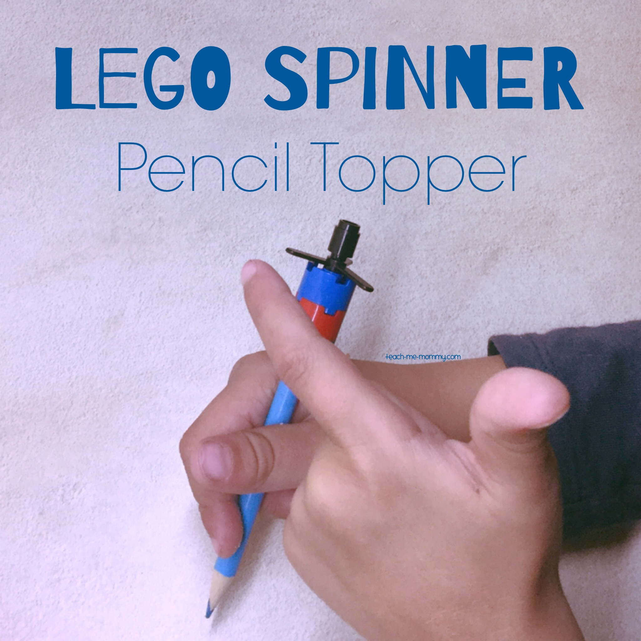 lego spinner pencil topper teach me mommy