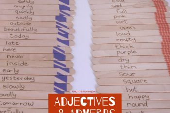 Adjectives & Adverbs Sticks