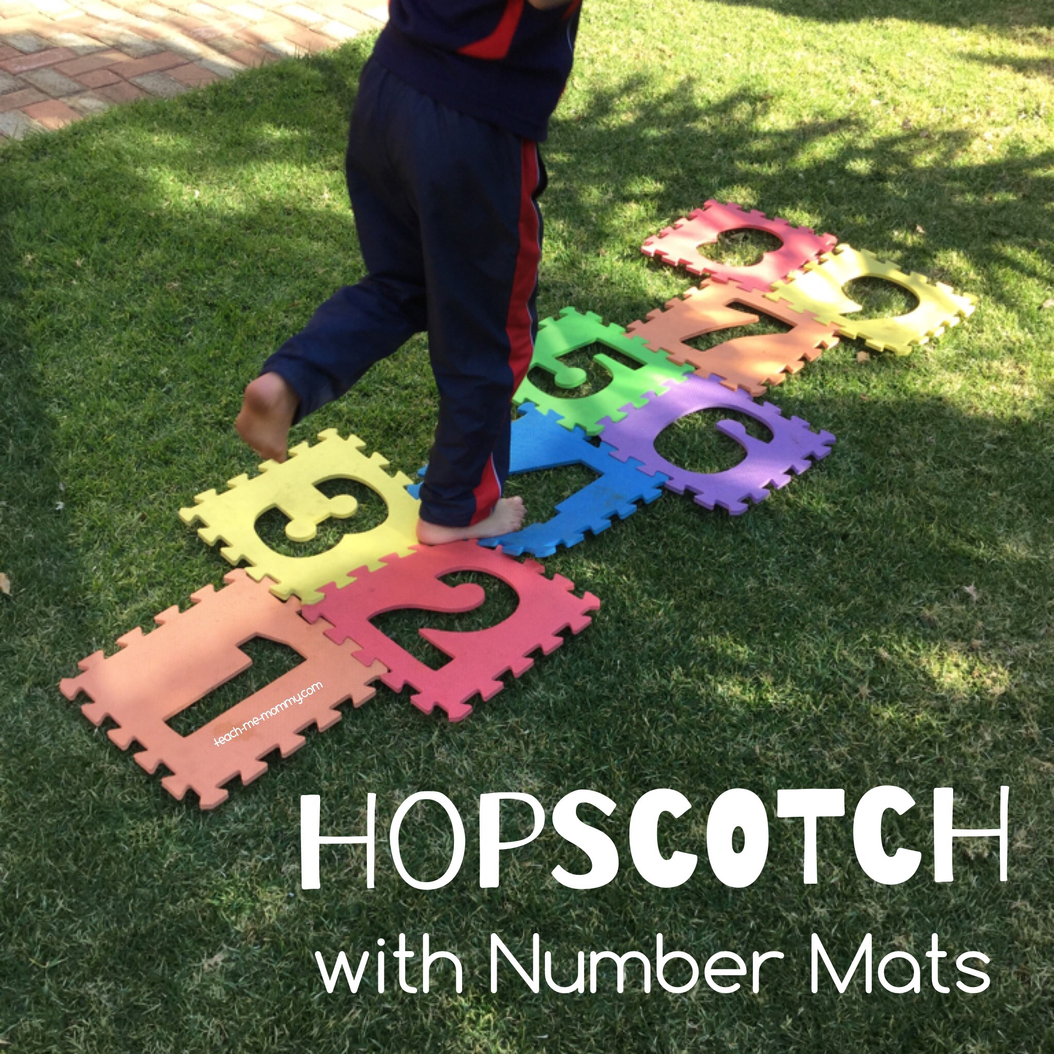 Hopscotch with Number Mats