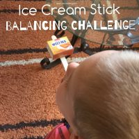 Ice cream stick balancing