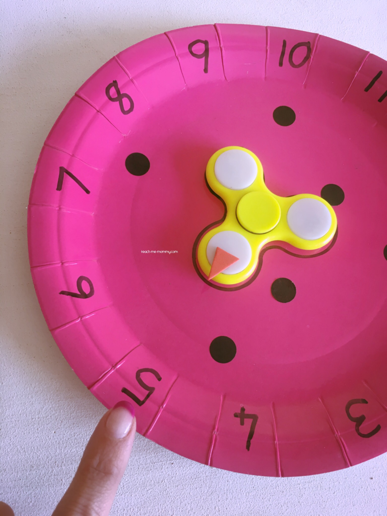 Numbers & Paper Plate u0026 Spinner Numeracy Games - Teach Me Mommy
