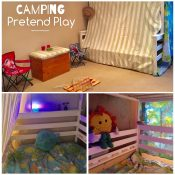 Camping pretend play