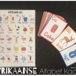 Afrikaanse Alfabet Kaarte